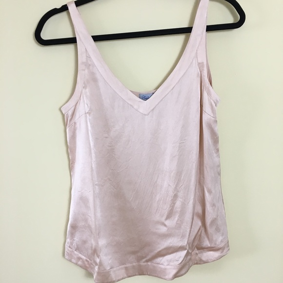 e44f42a147761 Abbeline silk camisole tank top stretch blush pink
